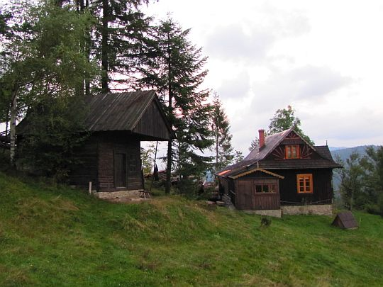Skansen w Studzionkach - kuźnia i dom mieszkalny.