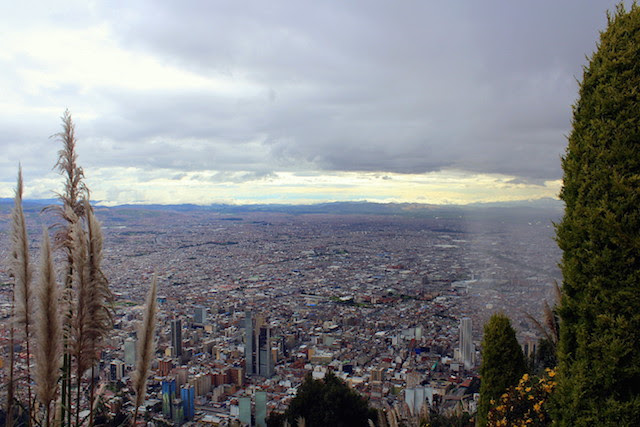 The view over Bogota from the Cerro de Monserrate