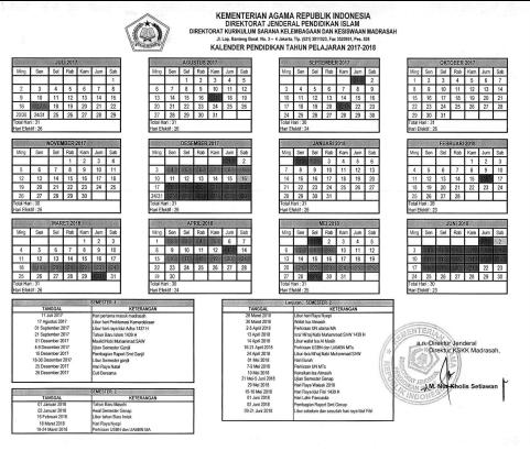 Download Kalender Pendidikan Untuk Madrasah