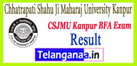 Kanpur CSJM Chhatrapati Shahu Ji Maharaj University Exam BFA  Result 2018