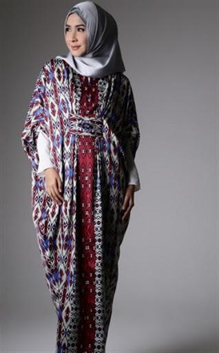 model abaya batik terbaru