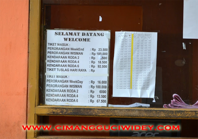 Harga tiket masuk Cimanggu Ciwidey Mei Juni 2016