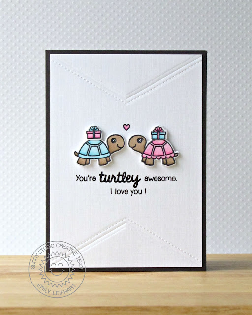 Sunny Studio Stamps: You're Turtley Awesome Card by Emily Leiphart.