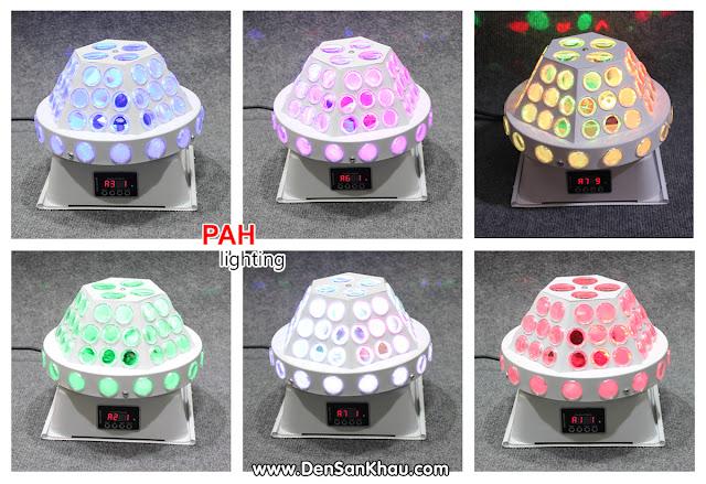 Ở đèn LED Fabu có 9 chế độ tự động từ A1 tới A9 với 2 chế độ cảm ứng theo nhạc S1 & S2.