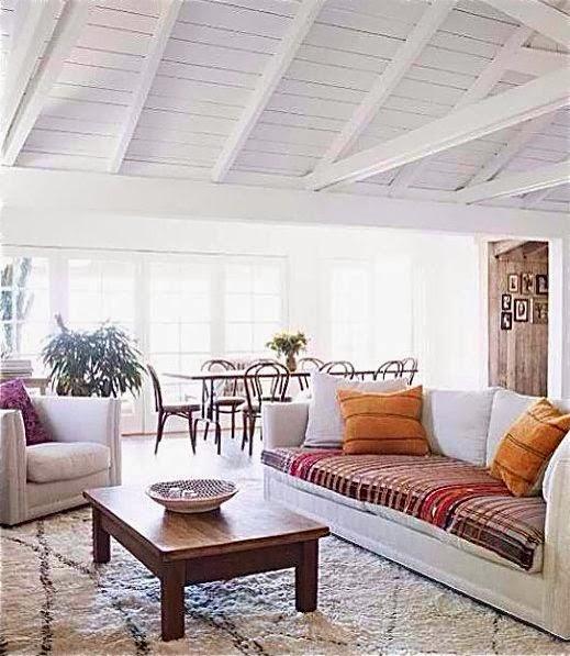 Rosa Beltran Design Exposed Wood Beams And White Painted