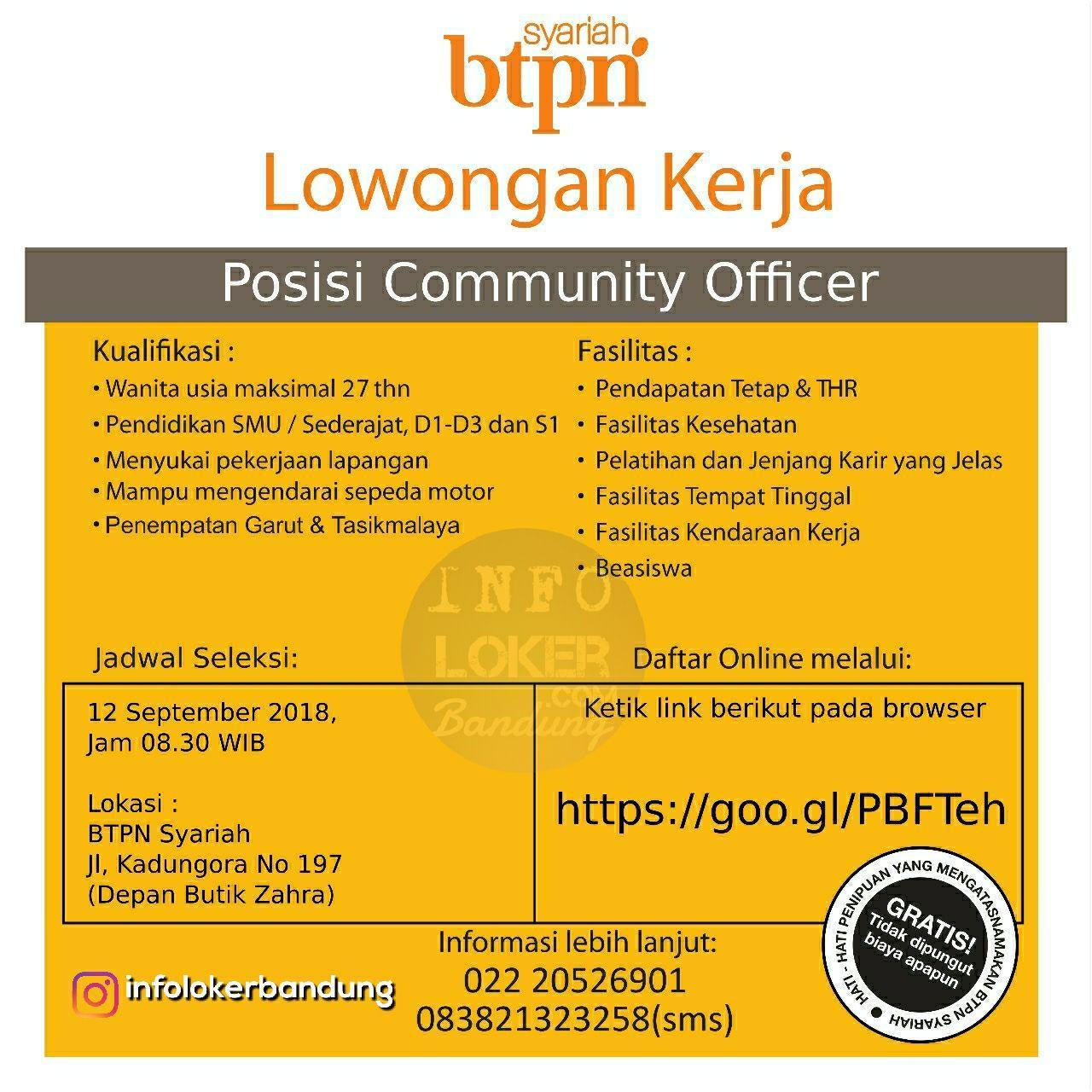 Lowongan Kerja Bank BTPN Syariah ( Walk In Interview ) 12 September 2018 Garut
