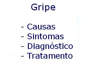 Gripe causas sintomas diagnóstico tratamento prevenção riscos complicações