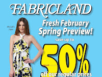 Fabricland Flyer for Summer valid Febuary 22 - 28, 2018