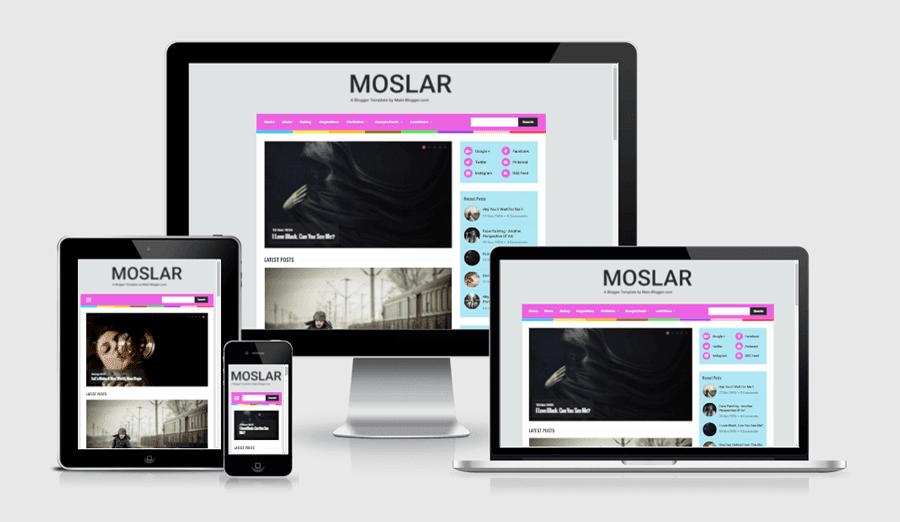 Moslar - A Responsive Blogger Template