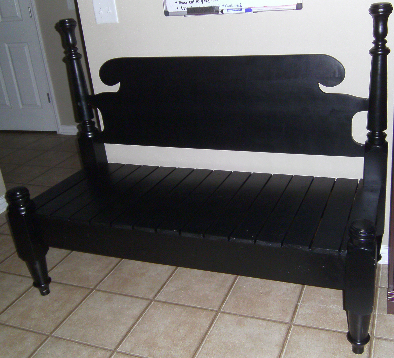 Simply Mommy: Head & Footboard Bench Tutorial