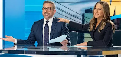Os atores Steve Carell e Jennifer Aniston na primeira temporada de The Morning Shows
