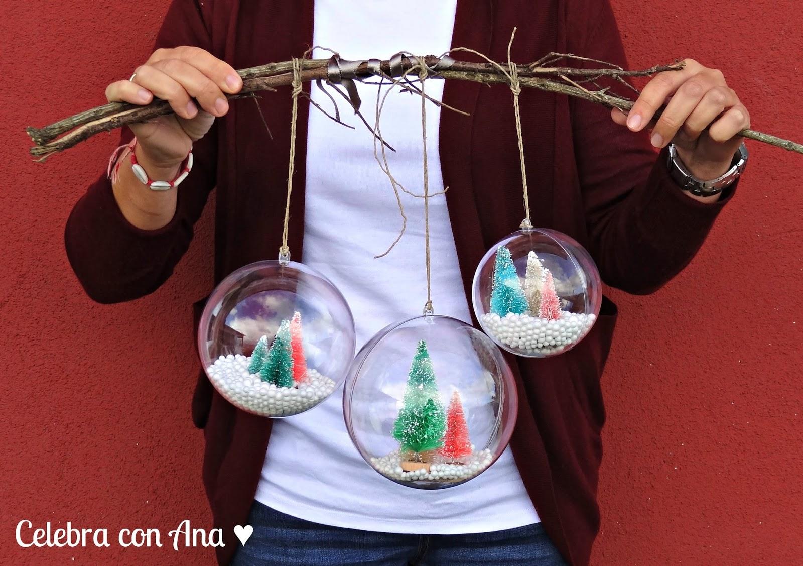 Celebra con ana compartiendo experiencias creativas bolas transparentes de navidad - Manualidades bolas de navidad ...