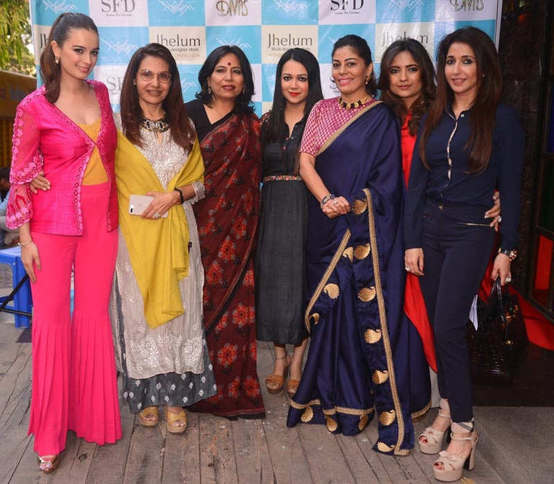 From Left Evelyn Sharma, Poonam Soni, Abha Singh, Jhelum Dalvi, Renu Bhandarkar, Kunika and Krishika