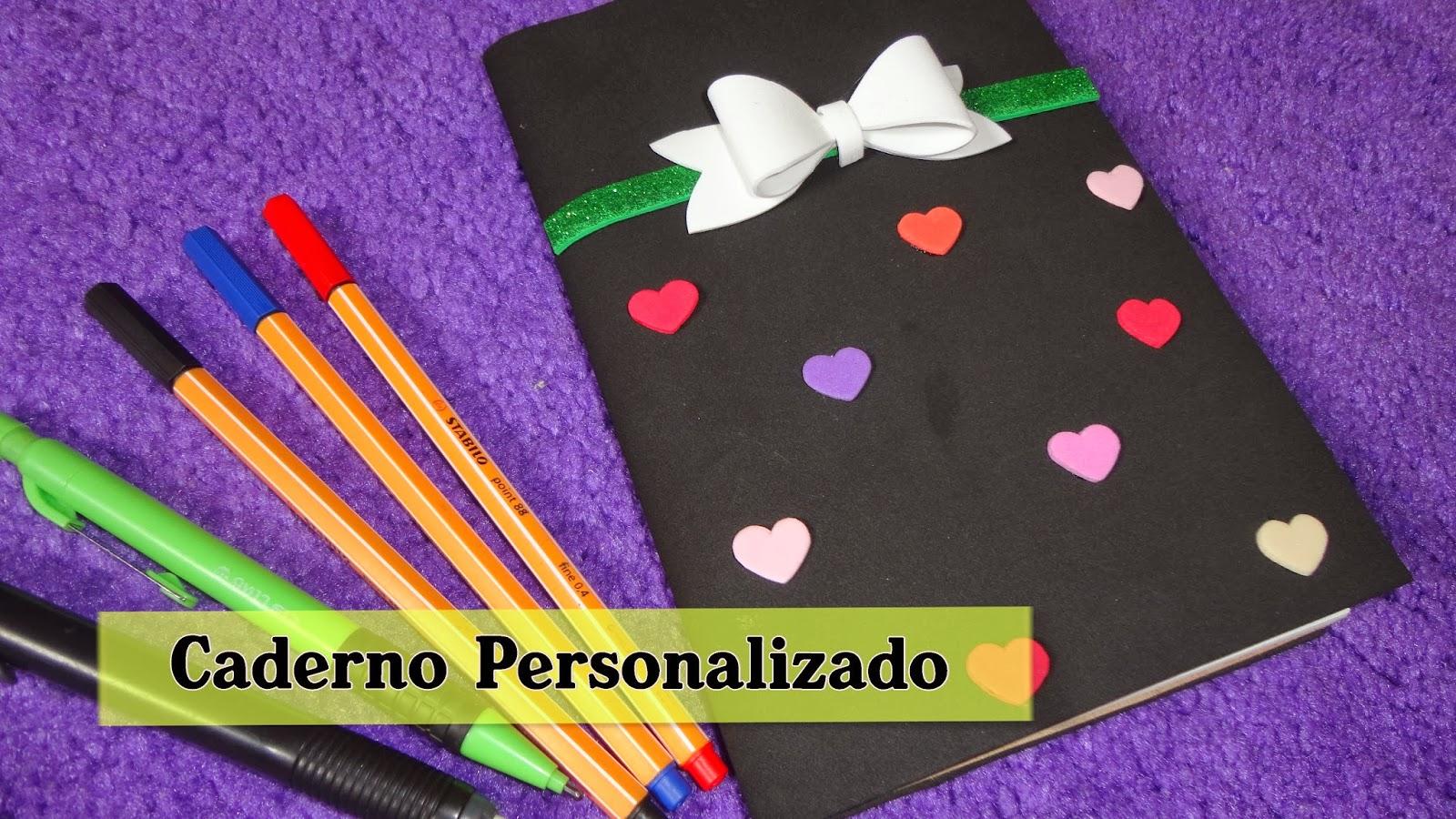 diy caderno personalizado com eva