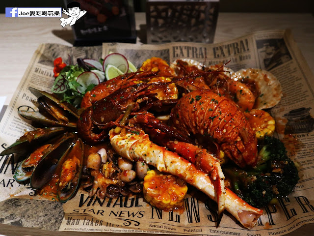 IMG 3666 - 熱血採訪│鐵克諾南洋風味手扒海鮮拼盤超豐盛!搭配超厚龍蝦痛風都快發作了