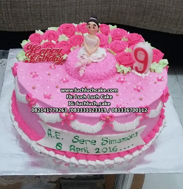 Kue Tart Tema Balet Untuk Anak Cewek