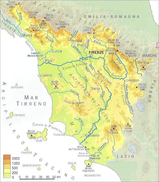 Fiumi Toscana Cartina.Chi Viaggia Impara Immagini Dal Mondo Italia Toscana