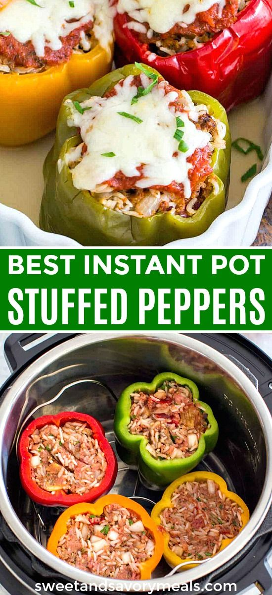 Best Instant Pot Stuffed Peppers