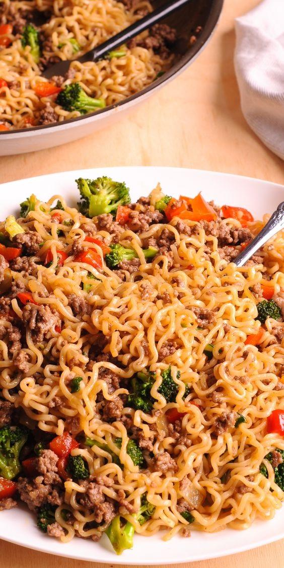 Healthy Beef Ramen Noodles