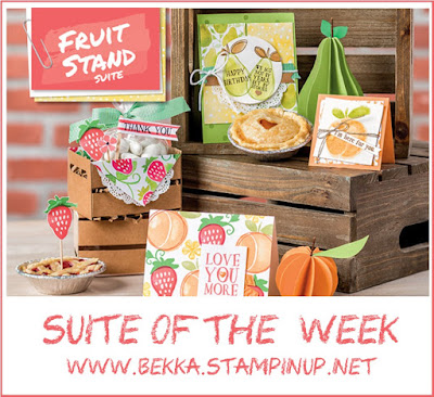 Fruit Stand from Stampin' Up! UK - available to purchase here - Suite of the Week buy it here