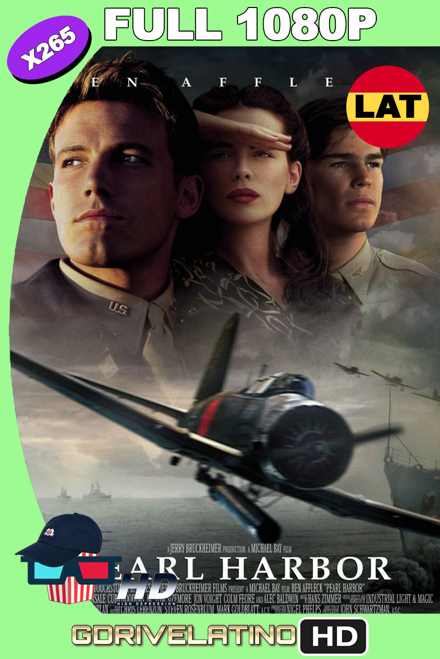 Pearl Harbor (2001) BDRip 1080p H265 10bits Latino-Inglés MKV