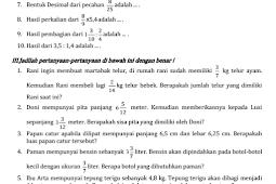 Soal Matematika Kelas 5 Kurikulum 2013 ~ M.ainun Kurniansyah
