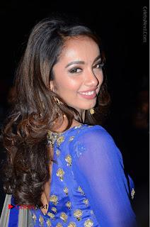 Telugu Actress Tejaswi Madivada Pos in Blue Long Dress at Nanna Nenu Na Boyfriends Audio Launch  0013.JPG