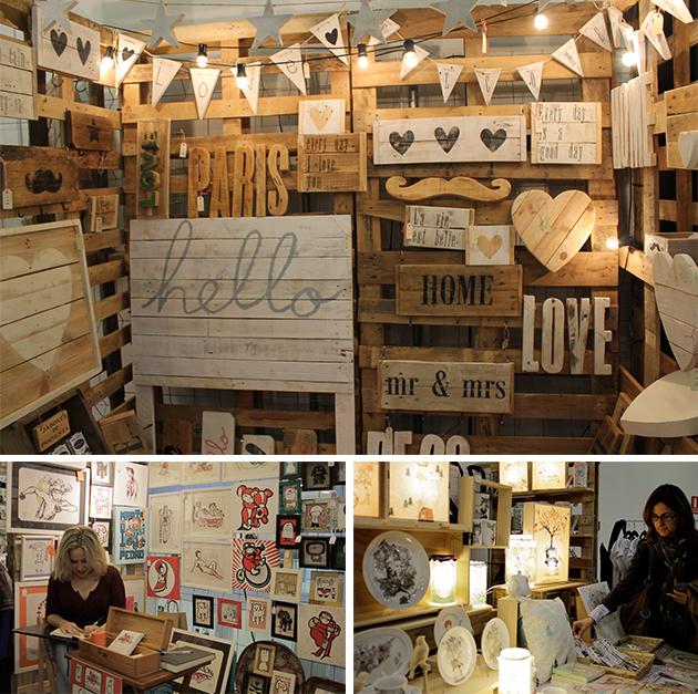 expositores handmade, materiales, productos artesanos