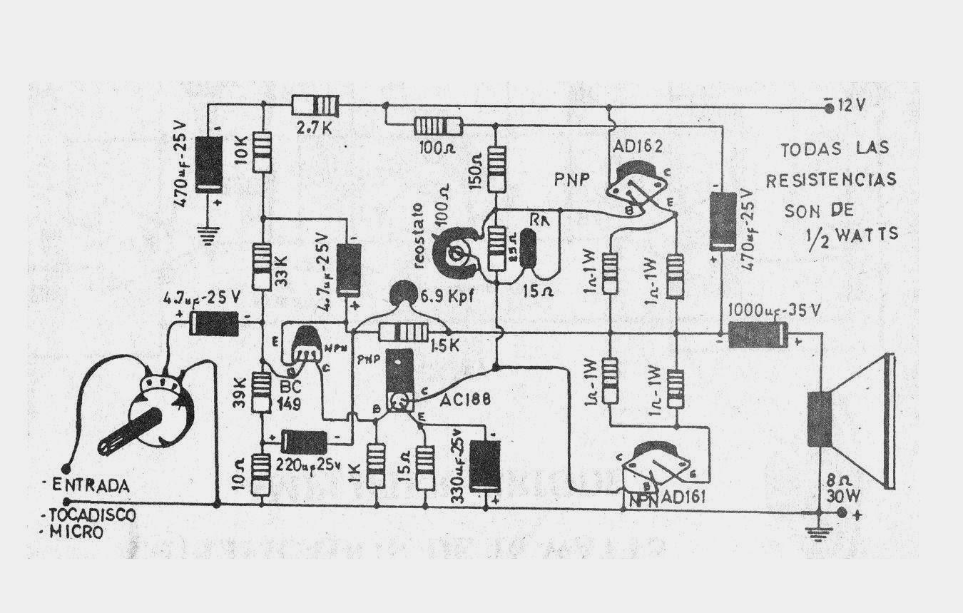 Electronica Diagramas Circuitos Circuito Amplificador De 15w