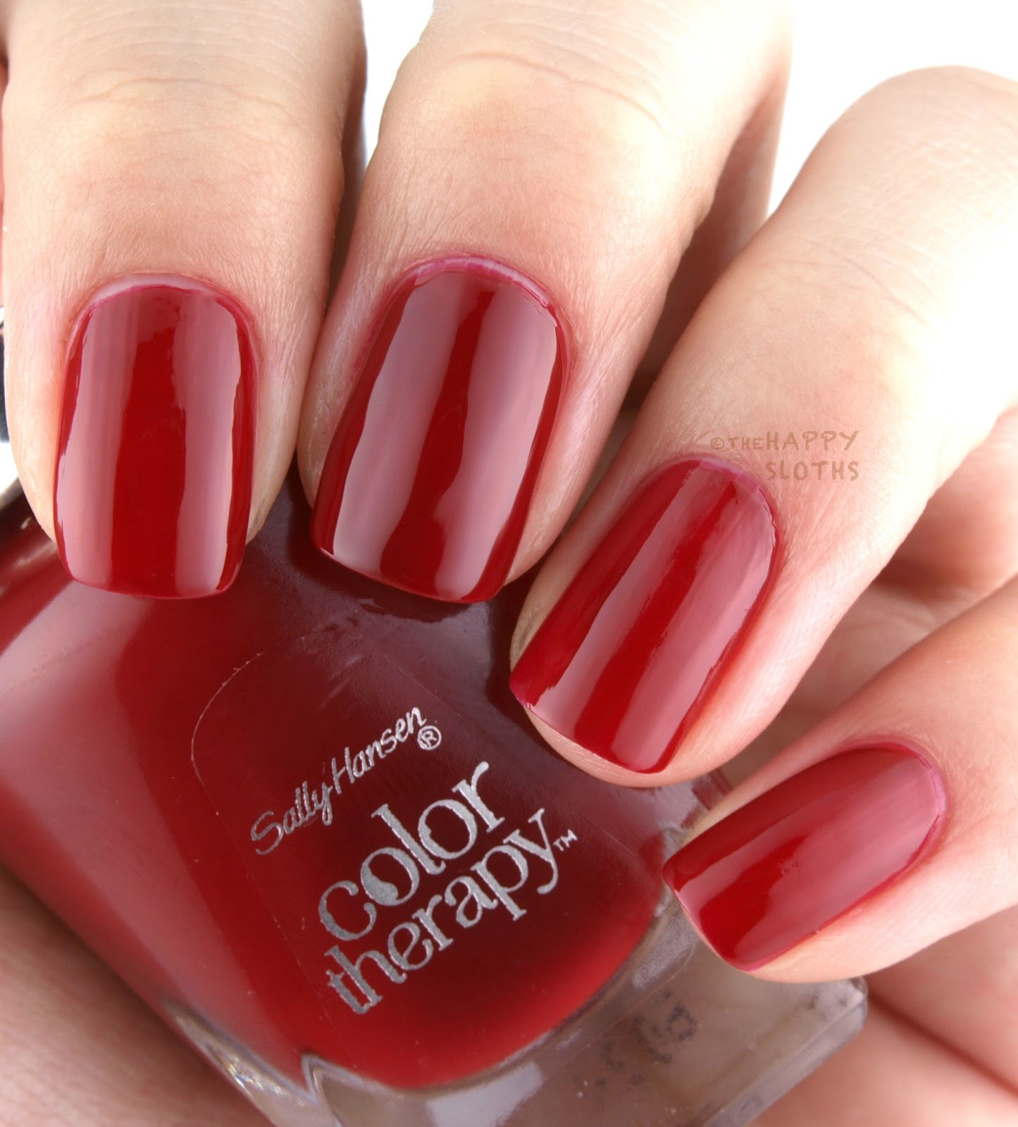 Colour therapy for sciatica - Colour Therapy For Success Sally Hansen Color Therapy Review Swatches Red Y To Glow Jpg