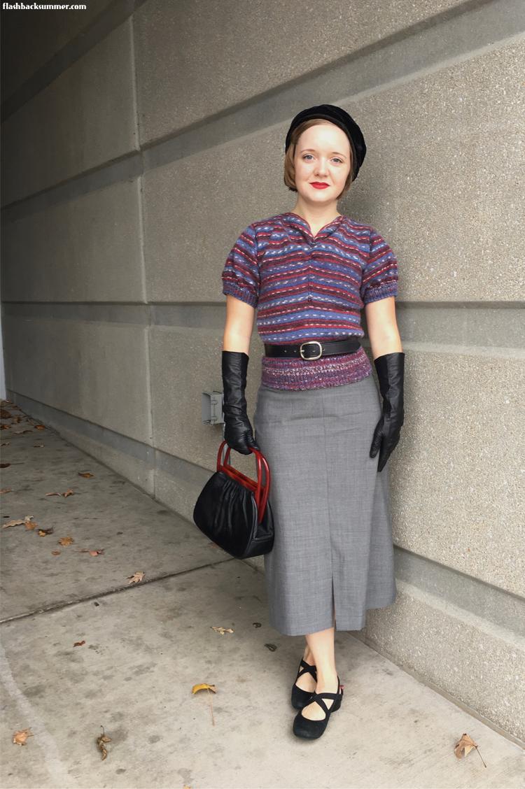 Flashback Summer: 1930s knitted Greta Sweater - Murder on the Orient Express