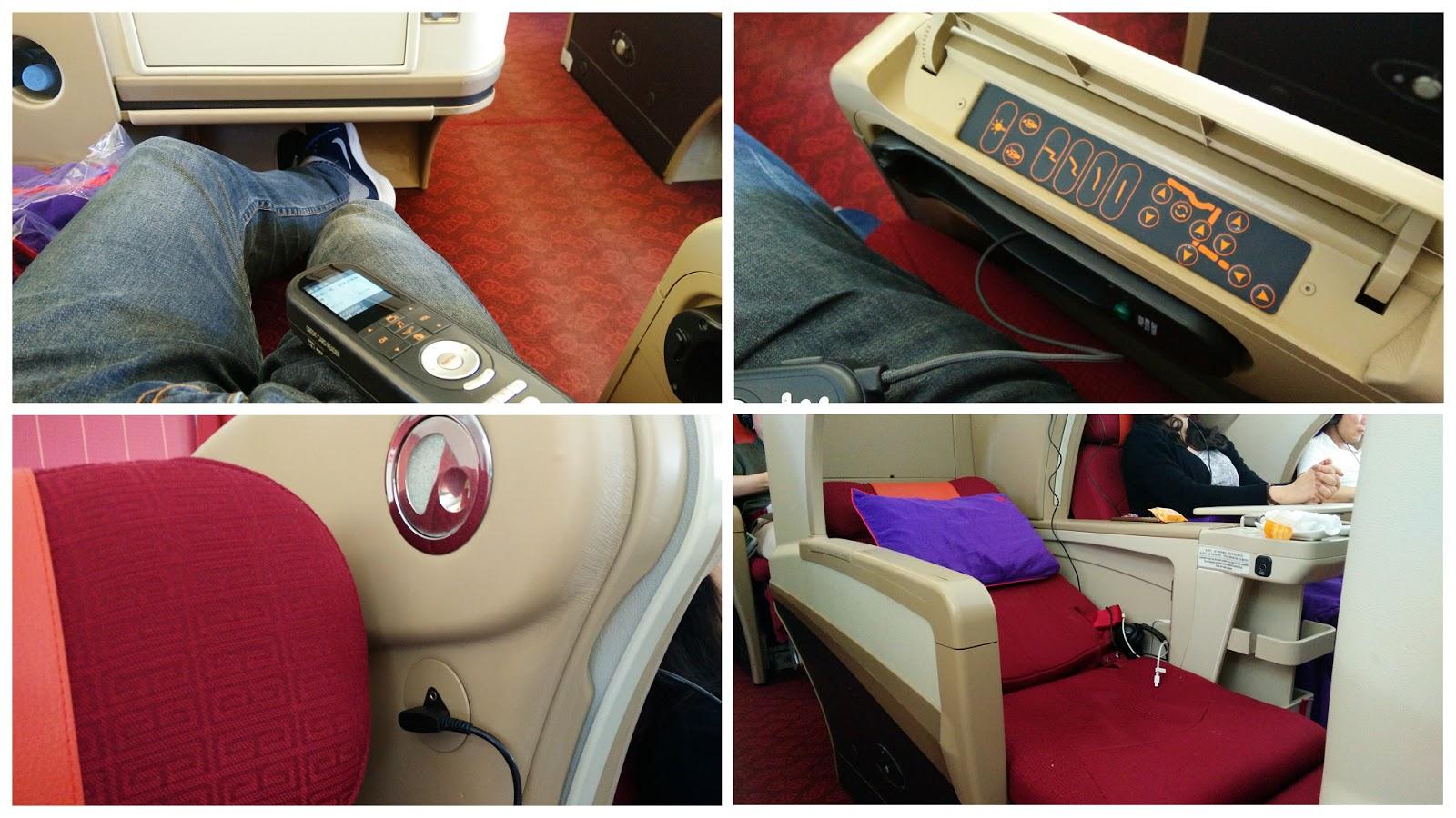 黑老闆說︱香港航空A330-300商務艙座椅機關很多,控制鈕找半天。