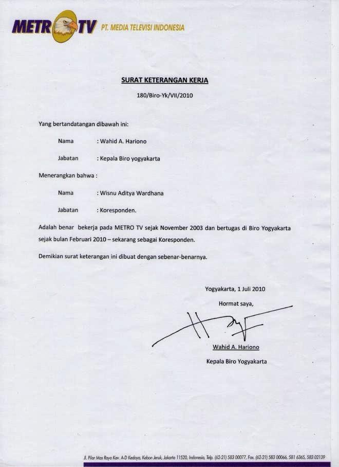 surat keterangan kerja doc