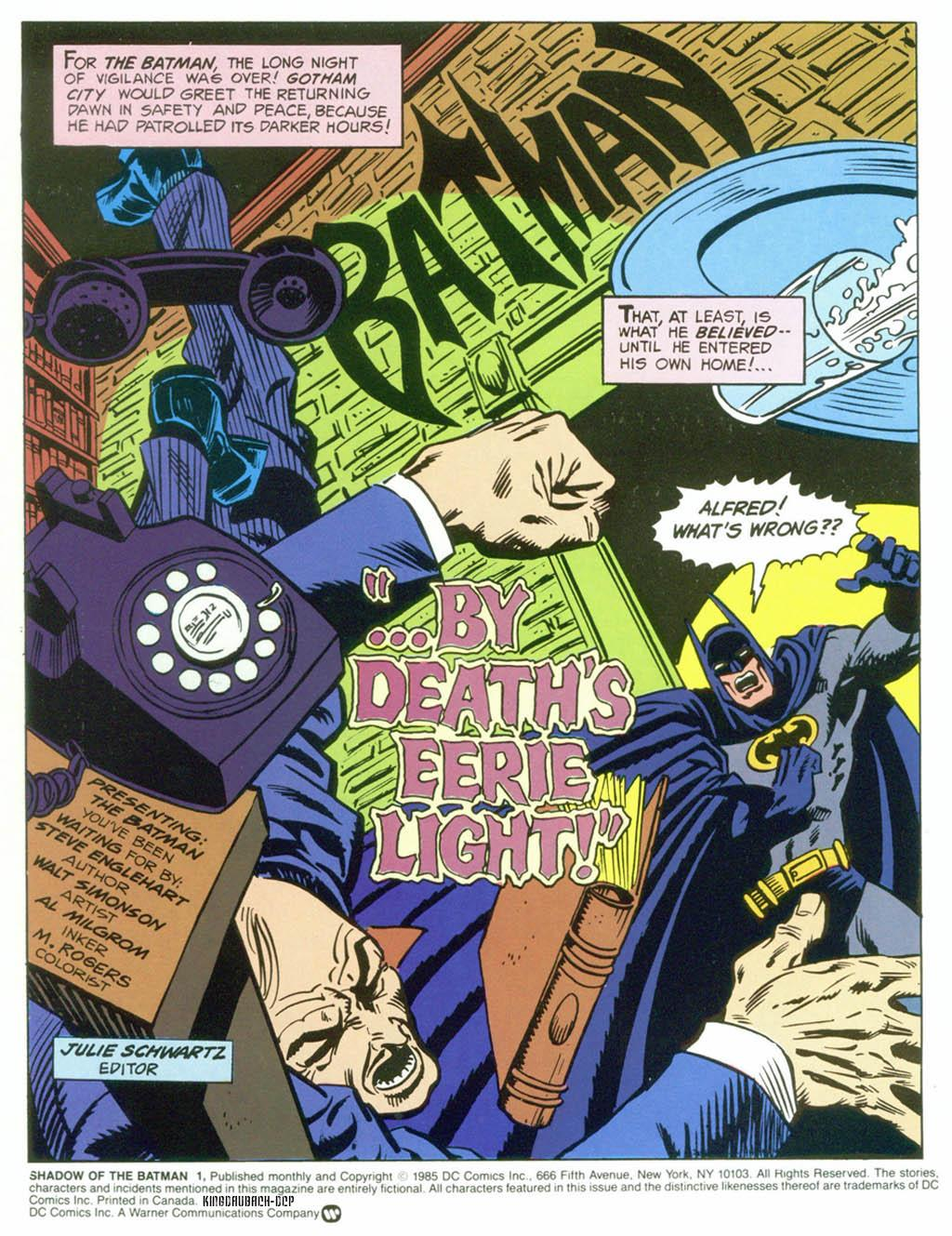 Read online Shadow of the Batman comic -  Issue #1 - 3