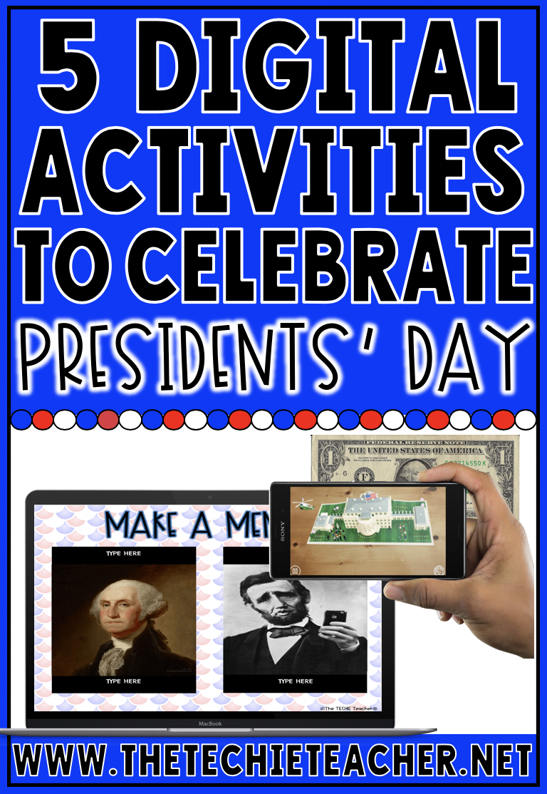 5 Digital Activities to Celebrate Presidents' Day. These technology activities for the classroom include ideas for Chromebook, laptop/computer and iPads users.