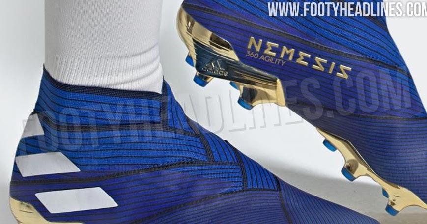 Classy Blue Amp Gold Adidas Nemeziz 19 Inner Game Boots