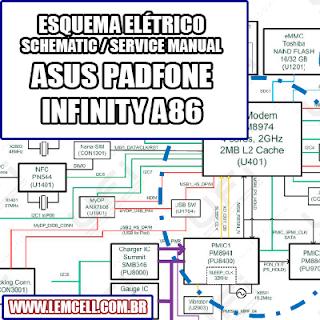 Esquema Elétrico Smartphone Celular Asus PadFone Infinity A86 Manual de Serviço   Service Manual schematic Diagram Cell Phone Asus PadFone Infinity A86      Esquematico Smartphone Celular Asus PadFone Infinity A86