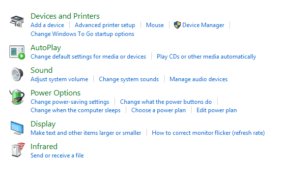 Power Options Windows