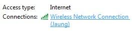 gambar status wifi yang sudah terkoneksi dengan internet