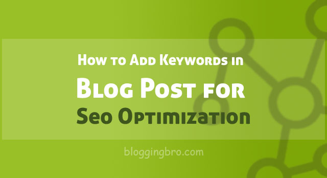 Adding-Keywords-in-Blog Post-for-Seo
