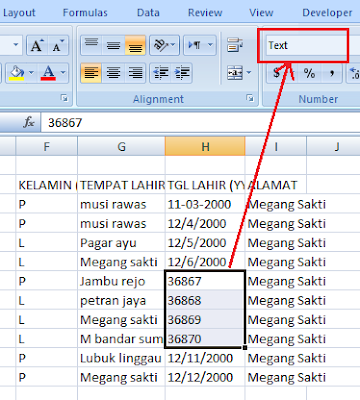 Cara Merubah Format Tanggal (Date) Ke Text