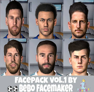 PES 2017 Facepack Vol.1 by Bebo Facemaker