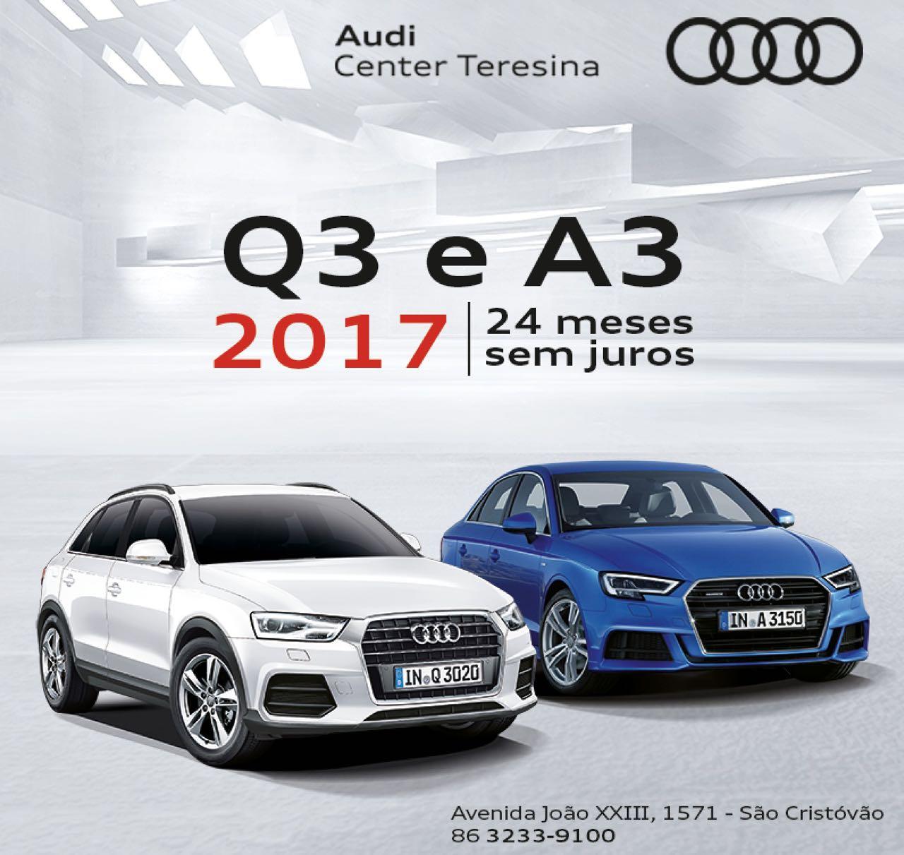 Audi Q3 e A3 passam a estar disponíveis com taxa 0% para parcelamentos em até 24 meses