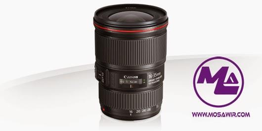 عدسة كانون: EF 16-35mm f/4L IS USM