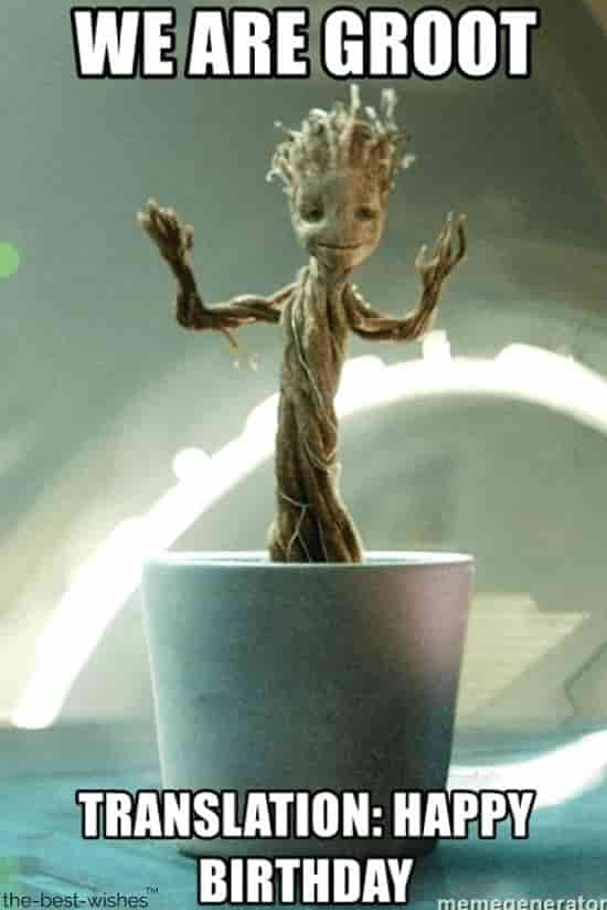 baby groot meme for bday