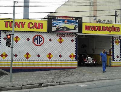 A nova fachada da Tony-Car em São Bernardo do Campo.