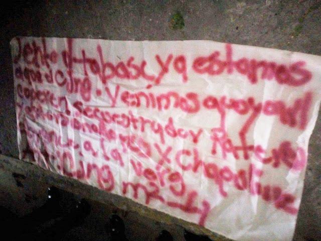 """AL mando del """"M2"""" El CJNG ha llegado a Tabasco """"ya estamos aquí,secuestradores,extorsionadores abranse a la vrga"""""""