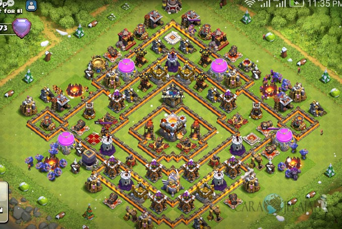 Base Trophy TH 11 COC Update Bomb Tower Terbaru 2017 Tipe 12