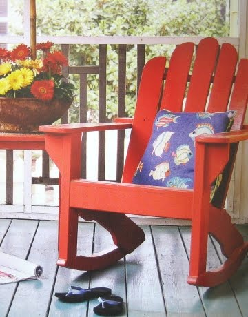 colorful porch furnishings