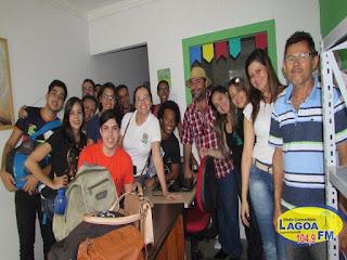 Estudantes do Curso de Marketing do IFRN prestigiam o Banco comunitário da cidade de Lagoa de Dentro (PB).
